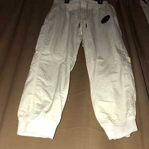 Nike Pants - White Nylon NIKE Joggers! Woman's Size Large!
